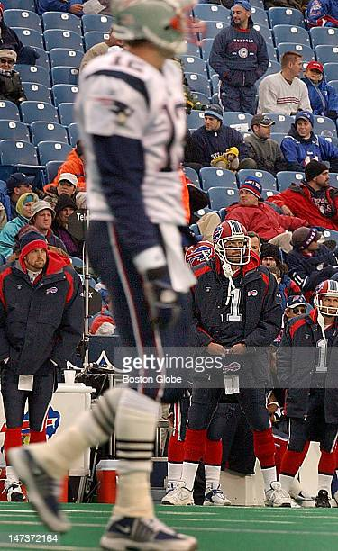 The anticipated Tom BradyDrew Bledsoe matchup ended up not to be much and here is a good indication of how it went as late in the game the stands are...
