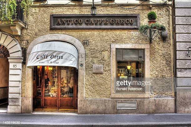 The Antico Caffe Greco on Via dei Condotti in Rome Italy Opened in 1760