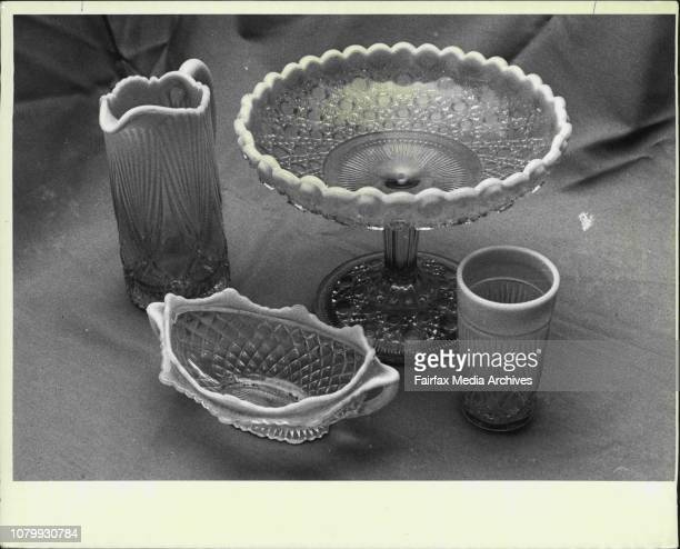 The Antique colliction of Mrs E White of St IvesThis collection of typical Vaseline glass is worth an estimated $1000 May 10 1976