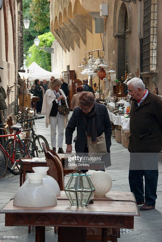 The Antique Market In Lucca Italy High-Res Stock Photo ...