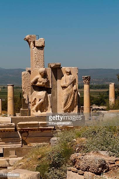 Die antiken Skulptur Gruppe in Ephesus, Türkei