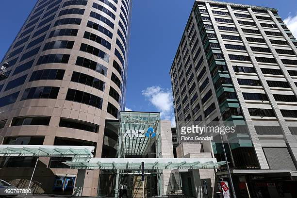 The ANZ Banking Centre in Albert St Auckland on December 22 2014 in Auckland New Zealand The Australia and New Zealand Banking Group is listed on the...