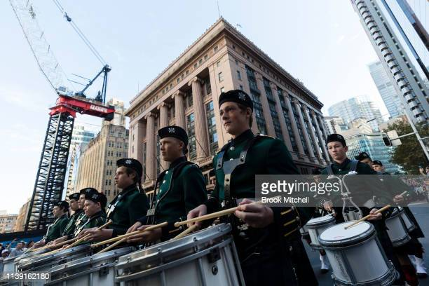 The ANZAC Day March at Martin Place on April 25 2019 in Sydney Australia Australians commemorating 104 years since the Australian and New Zealand...