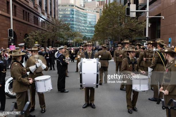 The ANZAC Day March on April 25 2019 in Sydney Australia Australians commemorating 104 years since the Australian and New Zealand Army Corp landed on...