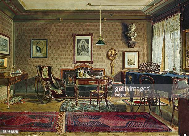 The apartment of Johannes Brahms in Vienna Watercolour Around 1860 [Die Wohnung von Johannes Brahms Aquarell um 1860]
