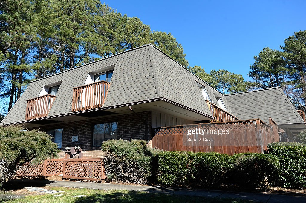 The apartments of University of North Carolina dentistry student Deah Shaddy Barakat, 23, his new wife Yusor Mohammad, 21, and her sister Razan Mohammad Abu-Salha, 19, after their alledged murders at the Finley Forest condominium complex on February 11, 2015 in Chapel Hill, North Carolina. Craig Stephen Hicks, 46, was charged with three counts of first-degree murder in the alledged shooting of death of three Muslim Americans near the University of North Carolina at Chapel Hill campus.