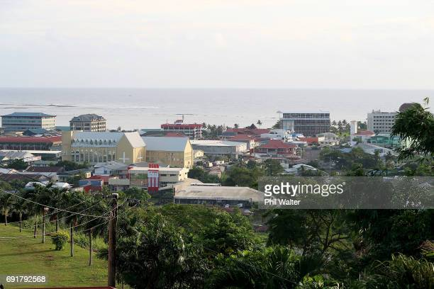 The Apia CBD is seen on June 2 2017 in Apia Samoa New Zealand Prime Minister Bill English today announced a US$515 million aid package to help boost...