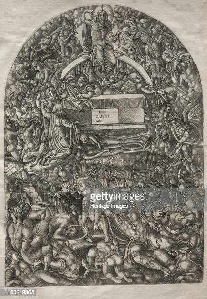 Star Falls and Makes Hell to Open, 1546-1556. This print is part of a bound volume of works illustrating the a narrative of the Apocalypse, taken...