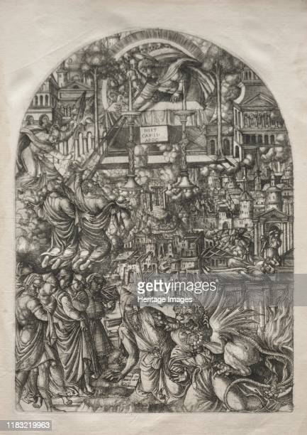 The Measurement of the Temple, 1546-1556. This print is part of a bound volume of works illustrating the a narrative of the Apocalypse, taken from...