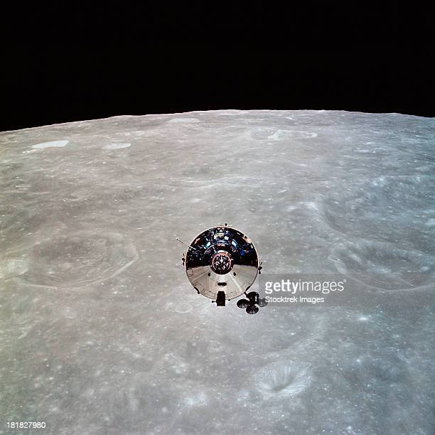 The Apollo 10 Command and Service Modules in lunar orbit.