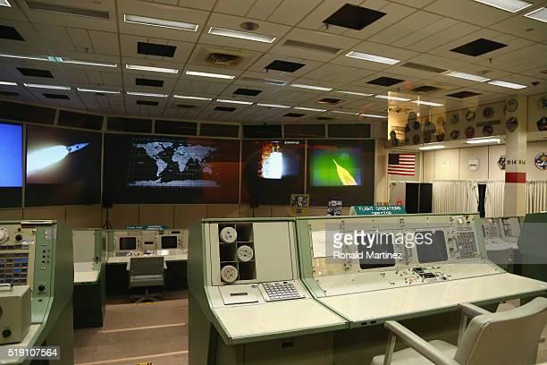 The Apollo Mission Control Center at Lyndon B Johnson Space Center on April 3 2016 in Houston Texas