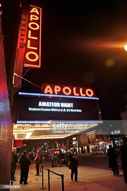 The Apollo Theater's 78th Season Of Amateur Night marquee on Opening Night With Jennifer Holliday at The Apollo Theater on February 1 2012 in New...