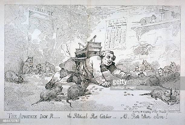 'The apostate Jack R the political rat catcher NB Rats taken alive' 1784 John Robinson Secretary to the Treasury in the late government on his hands...
