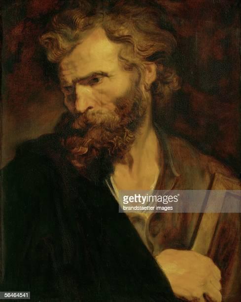 The apostle Judas Thaddaeus From a series of apostleportraits 1619/21 Oakwood 61 x 495 cm Inv6809 [Der Apostel Judas Thaddaeus Von einer Reihe von...