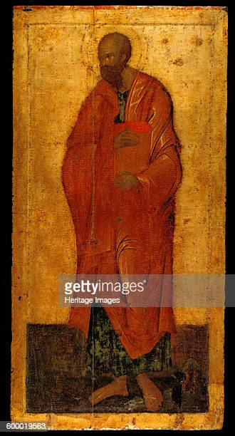 The Apostle Paul Icon from the Deesis Iconostasis Last quarter of the 14th century Found in the collection of Annunciation Cathedral in the Kremlin...