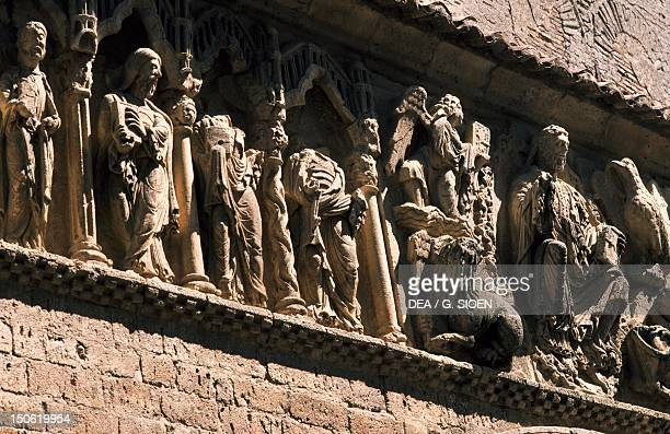 The Apostles decorative relief from the facade of the Church of St John the Baptist Carrion de los Condes Castile and Leon Detail Spain 12th century