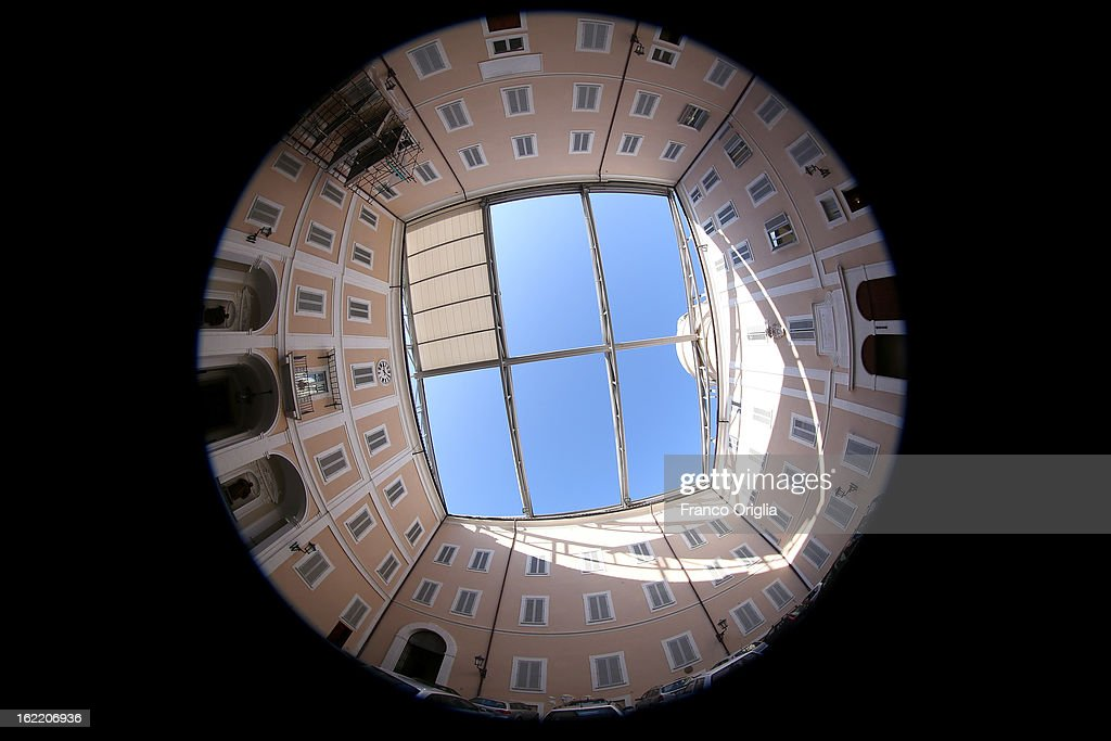 The Apostolic Palace of Castelgandolfo is seen on February 20, 2013 in Rome, Italy. The Apostolic Palace and The Ponifical Villas of Castelgandolfo, 10 miles south Rome, are the summer residence of Popes and will host Pope Benedict XVI during the next conclave.