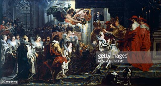 The Apotheosis of Henry IV and the Proclamation of the Regency of Marie de' Medici May 14 16211625 by Peter Paul Rubens oil on canvas 394x727 cm...