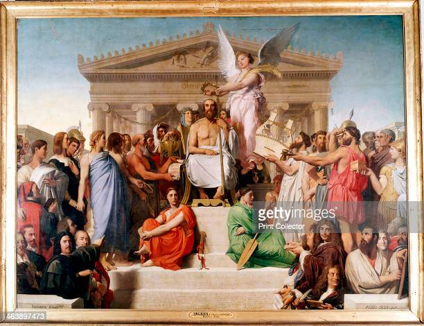 'The Apotheosis of Homer' 1827 Homer Ancient Greek epic poet depicted surrounded by famous literary figures from Plutarch to Moliere From the Musee...