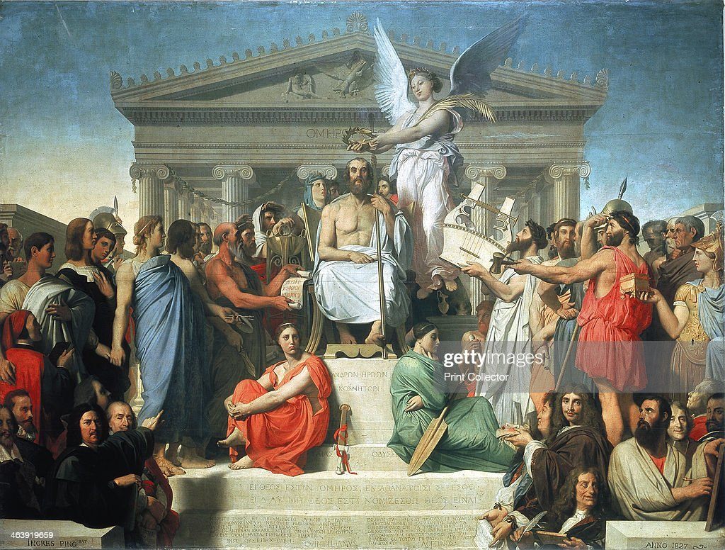 'The Apotheosis of Homer', 1827. Artist: Jean-Auguste-Dominique Ingres : News Photo