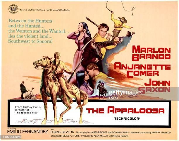 The Appaloosa poster Anjanette Comer Marlon Brando John Saxon halfsheet poster 1966