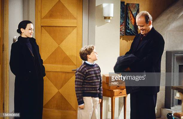 FRASIER The Apparent Trap Episodic 9 Pictured Bebe Neuwirth as Dr Lilith Sternin Trevor Einhorn as Frederick Gaylord Crane Kelsey Grammer as Dr...