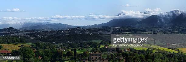 the appennini from macerata - jacopo caggiano stock pictures, royalty-free photos & images