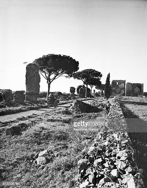The Appian Way in Rome Italy circa 1930