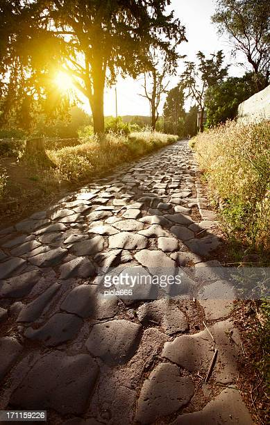 The Appian way in Rome