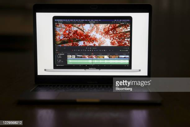 The Apple 13-inch MacBook Pro laptop computer during a virtual product launch in Tiskilwa, Illinois, U.S., on Tuesday, Nov. 10, 2020. Apple Inc.'s...