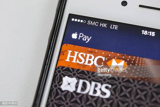 The Apple Inc Apple Pay application is displayed for a photograph on an iPhone in Hong Kong China on Tuesday Nov 1 2016 The urgency to prepare...
