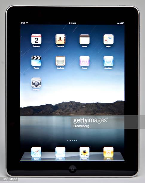 The Apple Inc iPad is displayed for a photograph in New York US on Friday April 2 2010 Apple Inc may sell 71 million iPads globally this year driven...