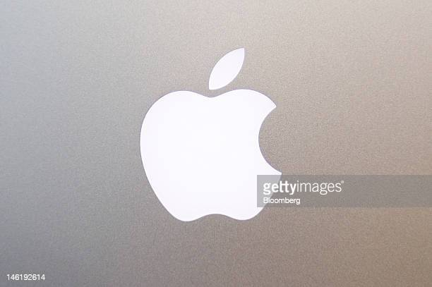 The Apple Inc logo is displayed on the back of the new MacBook Pro with retina display in San Francisco California US on Monday June 11 2012 Apple...