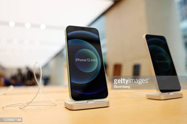 The Apple iPhone 12 Mini at the Apple flagship store during a product launch event in Sydney, Australia, on Friday, Nov. 13, 2020. Sales of the...