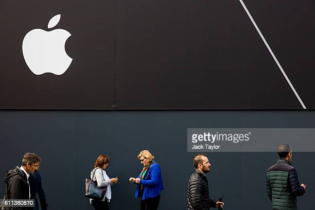 The Apple logo is displayed outside company's Regent Street store on September 29 2016 in London England Technology company Apple has announced that...