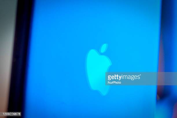 The Apple logo is seen on an iPhone 11 Pro Max in this illustration photo in Warsaw Poland on April 4 2020