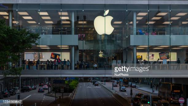 The Apple store at IFC on August 7, 2021 in Hong Kong, China.