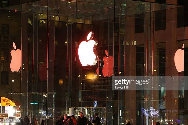 The Apple Store on 5th Avenue as seen during the 25th Annual World AIDS Day on December 1 2013 in New York City World AIDS Day is the only day of the...