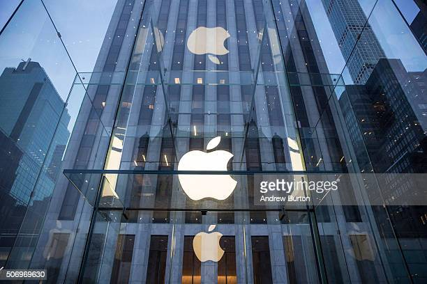 The Apple store on Fifth Avenue is seen on January 26 2016 in New York City This afternoon Apple reported the slowest iPhone earnings since 2007