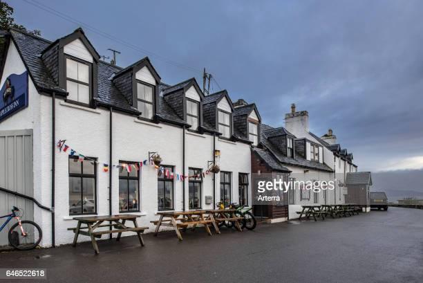 The Applecross Inn on a rainy day, Wester Ross, Scottish Highlands, Scotland, UK.
