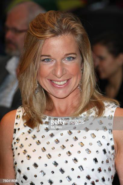 The apprentice contestant Katie Hopkins poses for a picture at the Hairspray Premiere at the Odeon Cinema Leicester Square on July 05 2007 in London...