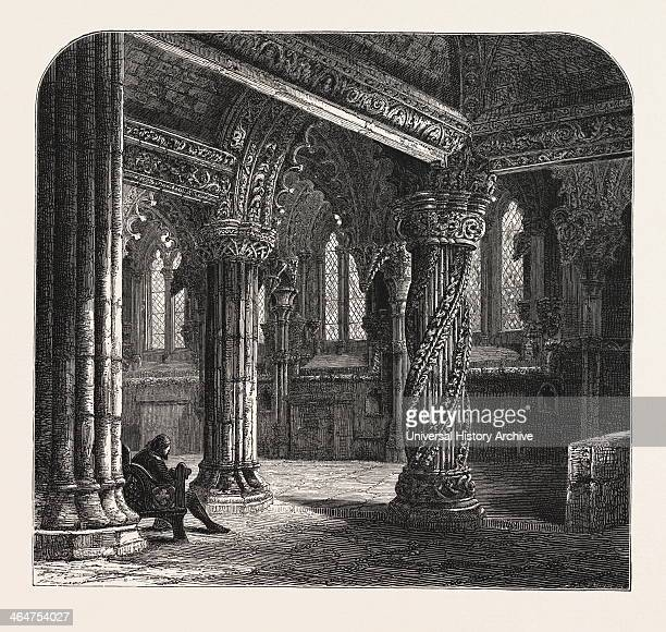 The Apprentice Pillar In Roslin Chapel Edinburgh And The South Lowlands Scotland Great Britain UK Uk Britain British Europe United Kingdom European...