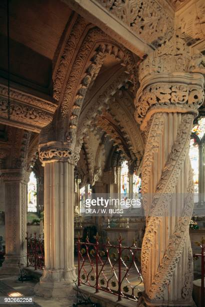 The Apprentice Pillar right Rossylyn Chapel Roslyn Scotland United Kingdom 15th century