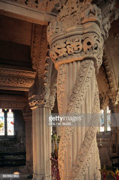The Apprentice Pillar Rossylyn Chapel Roslyn Scotland United Kingdom 15th century
