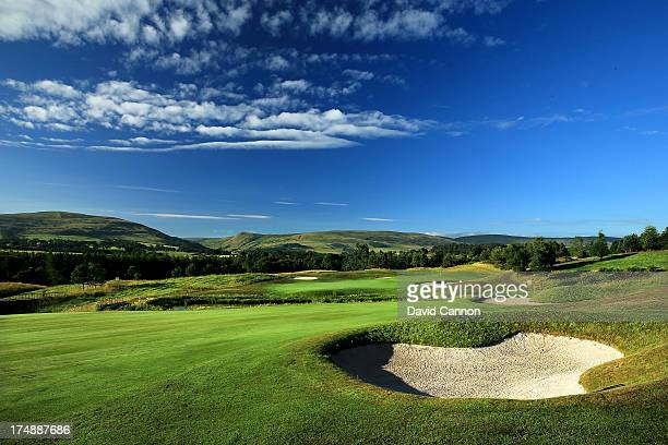 The approach to the 543 yards par 5, 16th hole Lochlan Loop' on The PGA Centenary Course at The Gleneagles Hotel Golf Resort which will be the host...
