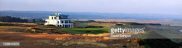 The approach to the 595 yards par5 18th hole on the Castle Stuart Golf Links on September 3 2010 in Inverness Scotland