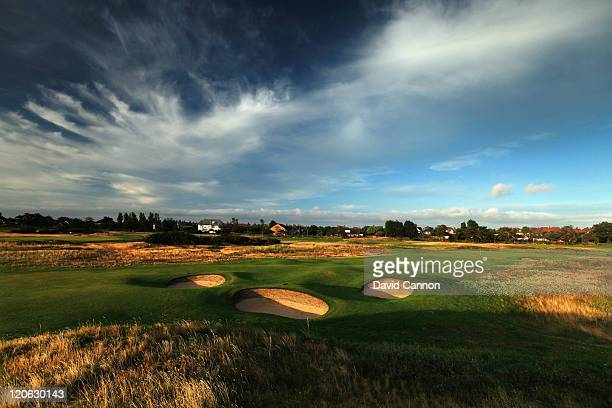 The approach to the green on the 464 yards par 4 15th hole at Royal Lytham and St Annes Golf Club the venue for the 2012 Open Championship on July 25...