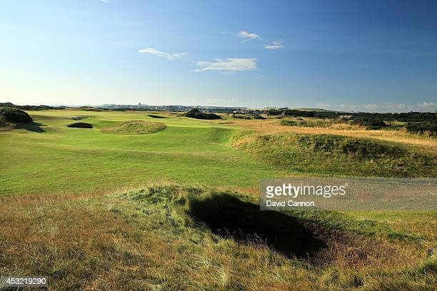 The approach to the green on the par 4, 13th hole on the Old Course at St Andrews venue for The Open Championship in 2015, on July 29, 2014 in St...