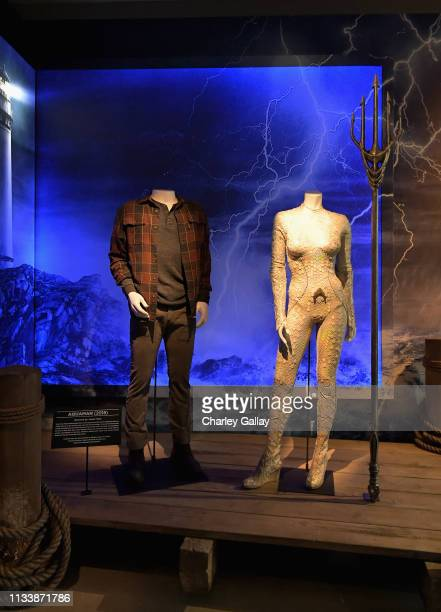 The Aquaman exhibit on display during the Warner Bros Studio Tour Hollywood Aquaman Exhibit reveal on March 05 2019 in Los Angeles California