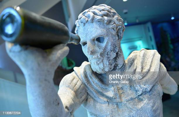 The Aquaman exhibit on display the Warner Bros Studio Tour Hollywood Aquaman Exhibit reveal on March 05 2019 in Los Angeles California